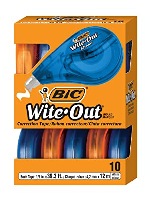 10 BIC Wite-Out Brand EZ Correct Correction Tape dispensers