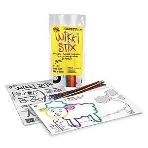 Wikki Stix playsheets, activity sheets, mini play paks, fun favors