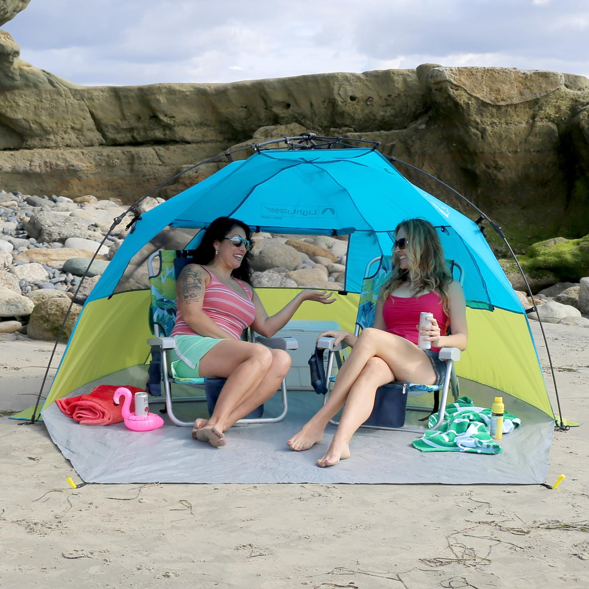 Great for the beach trips to the park cheering from the sidelines and more.  sc 1 st  Amazon.com & Amazon.com: Lightspeed Outdoors Quick Cabana Beach Tent Sun ...