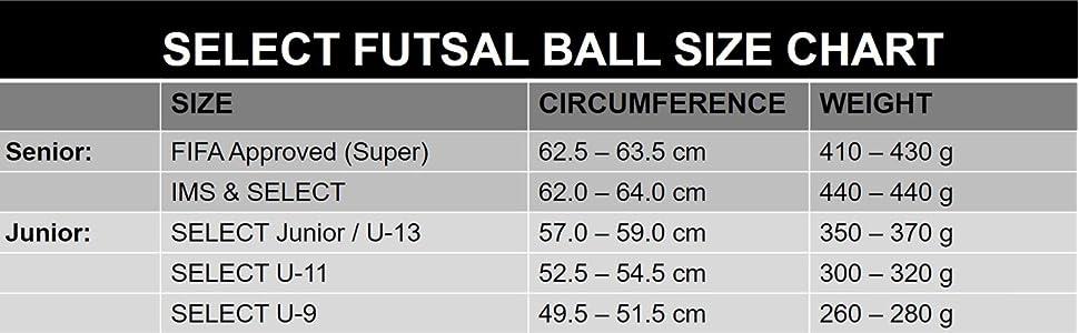 2016 SELECT SOCCER FUTSAL  TALENTO BALL U9 RED U11 PURPLE U13 BLUE