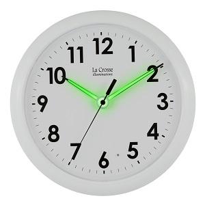 La Crosse Illuminated 403-310 10 Inch White wall clock