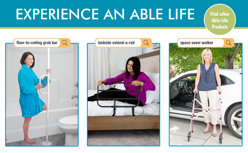 able life stander floor ceiling transfer security pole bedside extend a bed rail space saver walker