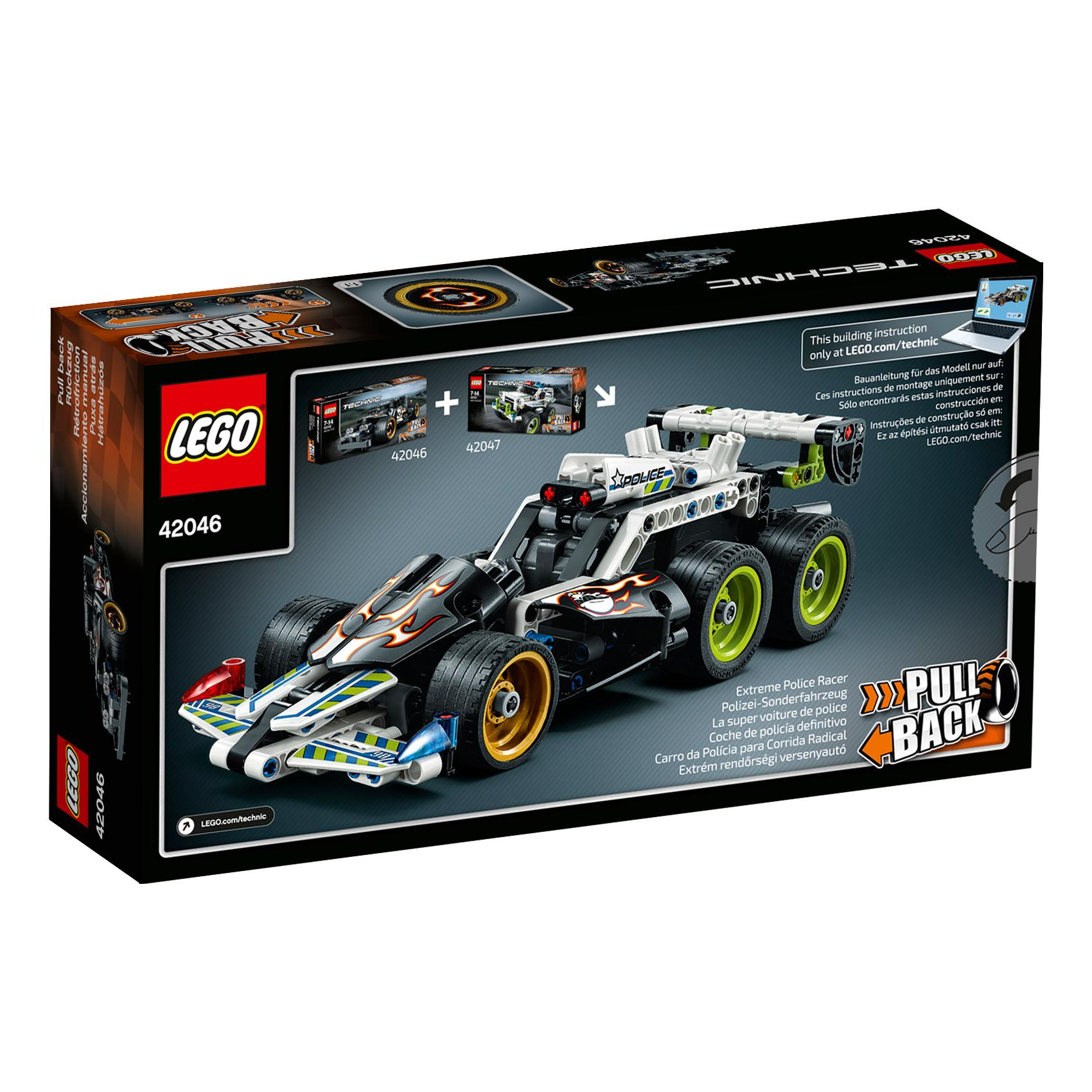lego technic getaway racer 42046 building kit toys games. Black Bedroom Furniture Sets. Home Design Ideas
