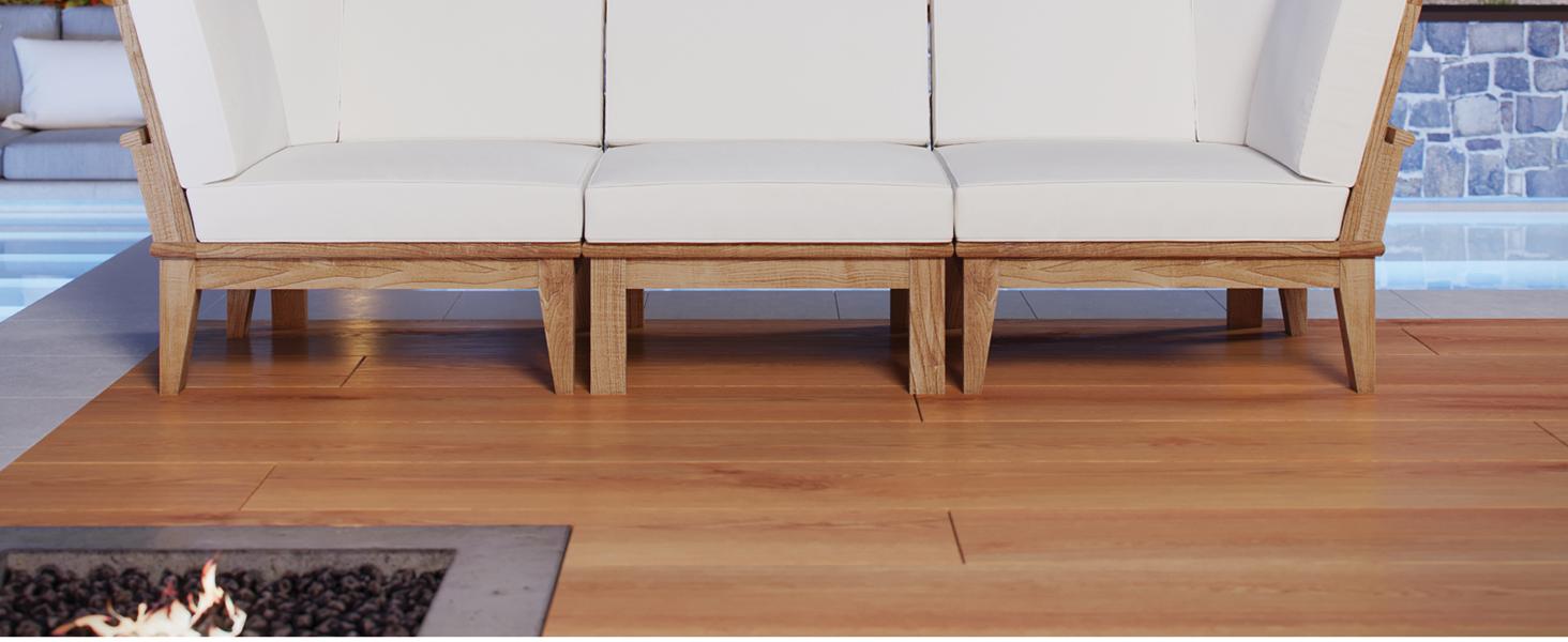 Amazon.com: Modway Marina - Juego de muebles de jardín (3 ...