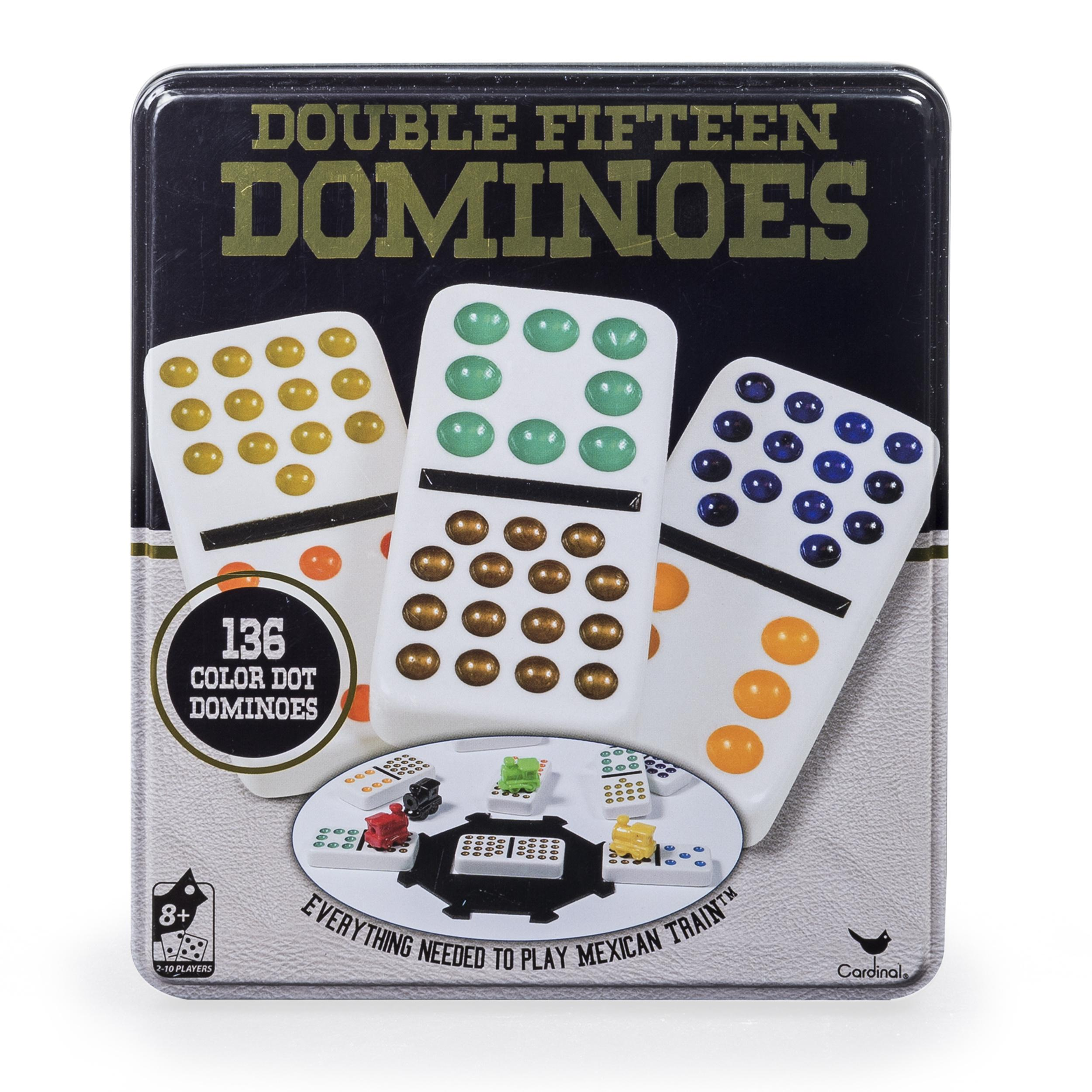 Amazon Cardinal Industries Double 15 Color Dot Dominoes In A