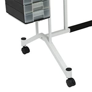 desk with wheels, craft table with casters, mobile craft desk