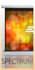 Spectrum Series, Elite Screens, Electric Projection Screens, Projector Screen