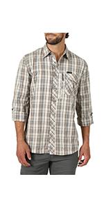 ATG x Wrangler Heathered Plaid Utility Shirt