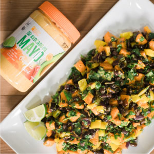 sweet potato avocado oil mayo salad