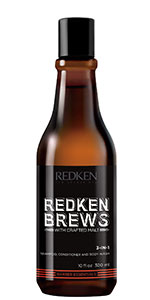 redken brews mens shampoo shampoo for men 3in1 2 in1