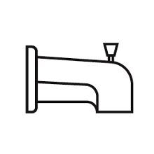 tub spout bathtub bath shower faucet trim kit delta
