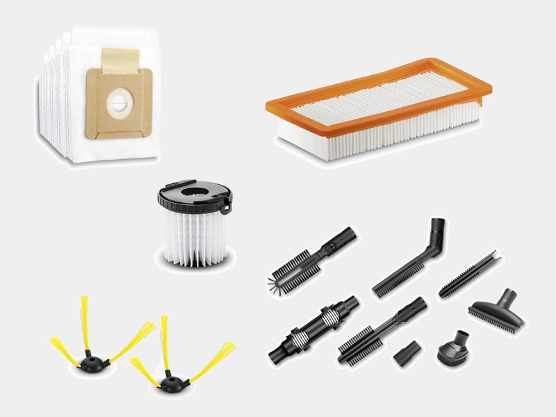 K/ärcher VC2 Aspirateur avec Sac /& K/ärcher 2.863-236.0 Sachet Filtre ouate Accessoire pour aspirateur VC 2