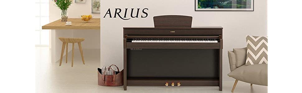 Yamaha Ydp143r Arius Series Console Digital Piano With Bench Dark Rosewood