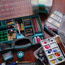 Art, Storage, ArtBin, Paint, Organized, Container, Paintbrush, Supplies, Pencils, Pens, Paper