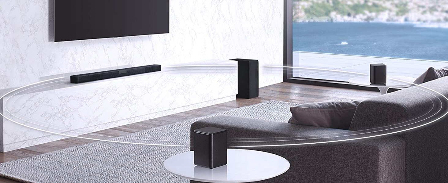 lg rücklautsprecher; surround sound soundbar