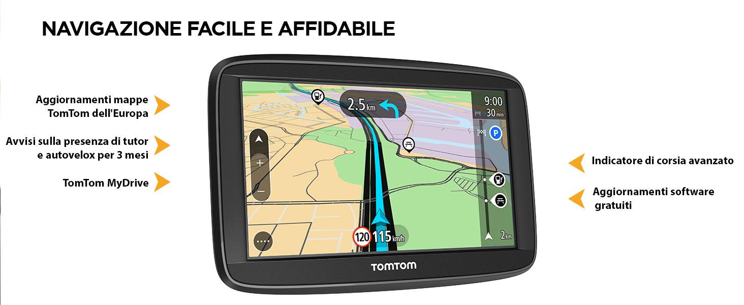 Mappa Italia X Tomtom.Tomtom Navigatore Satellitare Per Auto Start 52 Con Mappe Europa Aggiornamenti Tutor E Autovelox Di Prova Supporto Reversibile Integrato 5 Pollici Amazon It Elettronica