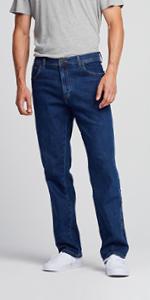 Wrangler durable straight jeans uomo