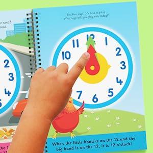Clock, girl hand, hen