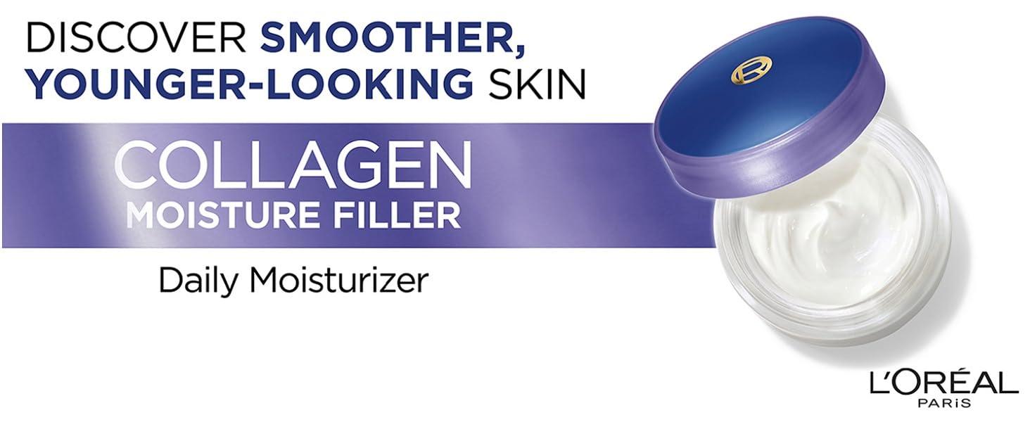 kolagenový zvlhčovač, zvlhčovač výplně jemné linky, hladší zvlhčovač pokožky