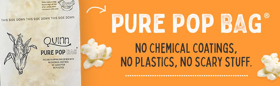 pure pop microwave popcorn bag no chemicals just popcorn kernels