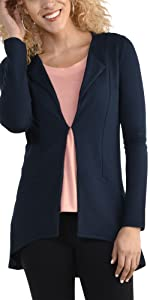 Cardigan, business casual, ladies, casual, soft, hi lo