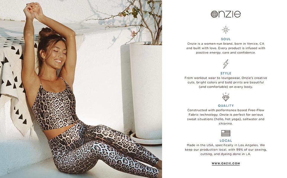 Onzie, Leopard, About Us
