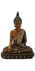 Deco 79 Poly-Stone Sitting Buddha