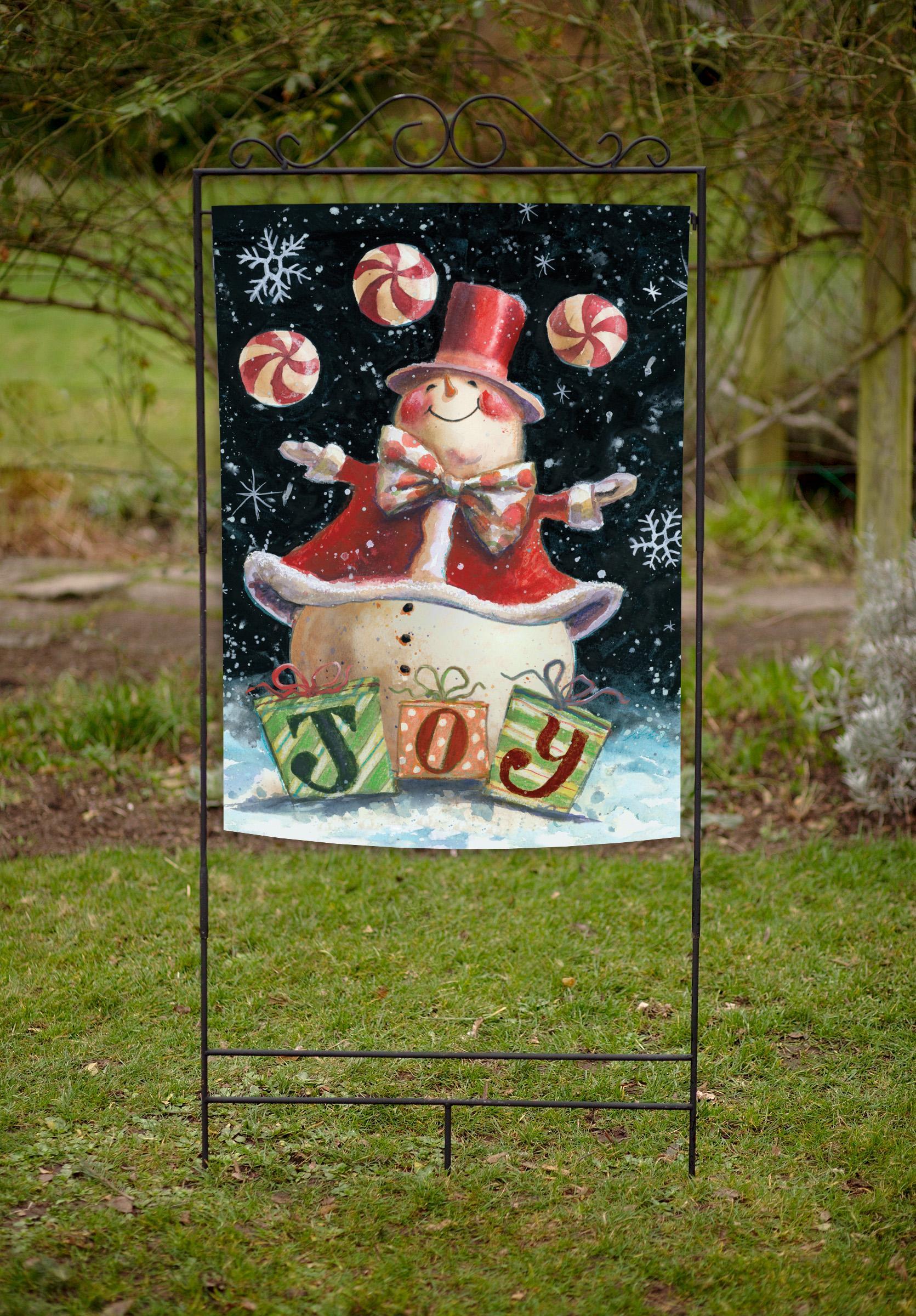Toland Home Garden Peppermint Snowman 28 X 40
