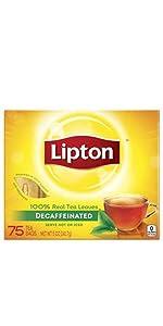 Lipton Black Tea Bags Decaffeinated 50 ct