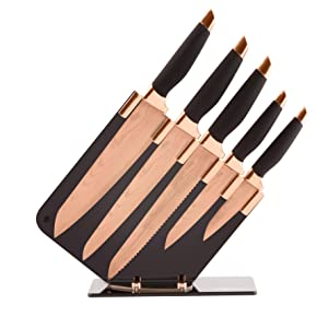 tower t81532rw damascus effect knife set with stainless. Black Bedroom Furniture Sets. Home Design Ideas