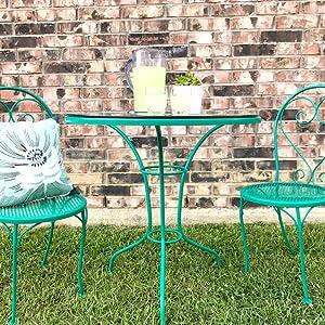 gloss rich jade stops rust spray paint chair table relax fun outdoor lemonade diy glass grass pillow