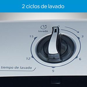 2 ciclos de lavado