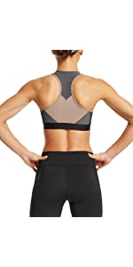 Mission Womens VaporActive Temper Racerback Medium Impact Sports Bra Moonless Night//Funghi Large