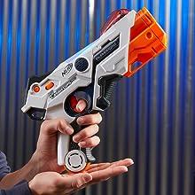 alphapoint; laser ops; nerf; 2 lanzadores; listo para jugar; laser;
