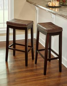 Amazoncom Linon Claridge Patches Bar Stool 32 Inch Brown