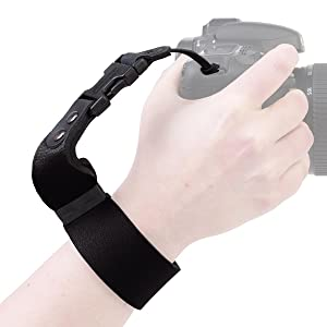 The secure SLR Wrist Strap allows you to take new photos from a creative perspective