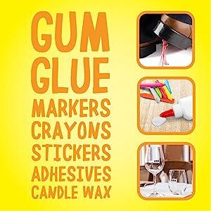 glue remover, gum remover, chewing gum remover