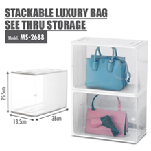 HOUZE - Stackable Luxury Bag See Thru Storage : Personalized Bag Storage
