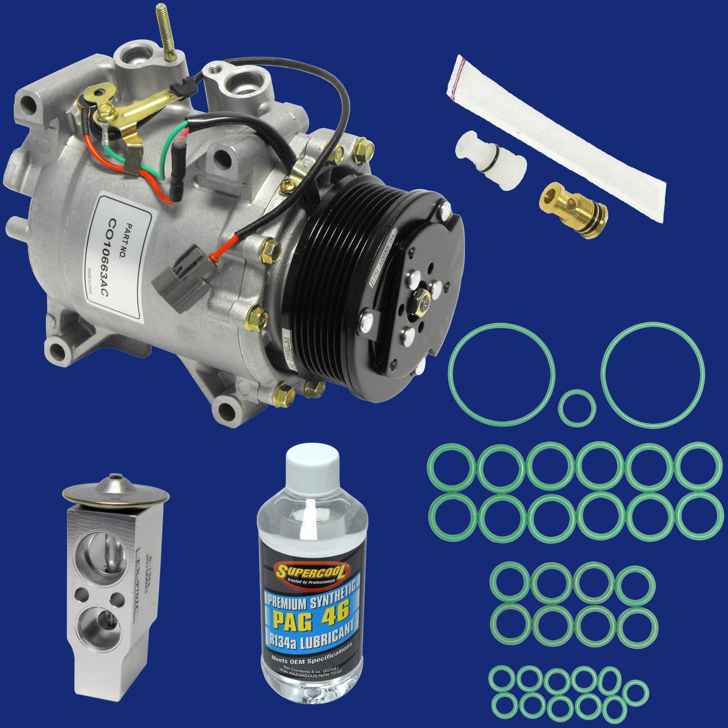 The Compressor & Component Kit includes additional items that must also be replaced.