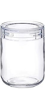 保存 容器 ガラス ジャー 瓶 びん キャニスター トライタン 蓋付 プラスチック 調味料 cellarmate 星硝 日本製 国産 JAPAN スタッキング 重ねられる シンプル 除菌 便利 収納