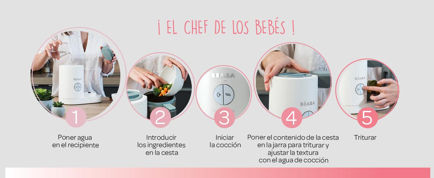 Béaba Babycook Neo Robot de cocina infantil: tritura, cocina y ...
