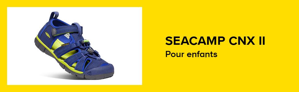 24 EU Flint Stone// Ocean Wave Sandale Unisexe Enfant Bleu KEEN Seacamp II CNX