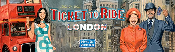 Ticket to Ride London; Days of wonder; England; UK; United Kingdom; Alan R. Moon