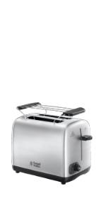 toaster,grille pain,pain grillé,petit dejeuner,russell hobbs