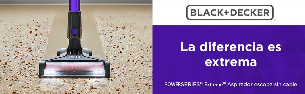 BLACK+DECKER BDPSE1815P-QW - Aspirador de escoba sin cable Power Series Extreme 18V, con batería litio 1.5Ah, especial mascotas: Amazon.es: Hogar