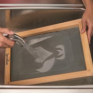 screen printing, emulsion, speedball