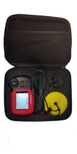 fish finder, handheld fish finder, fishtrax case, fishtrax,