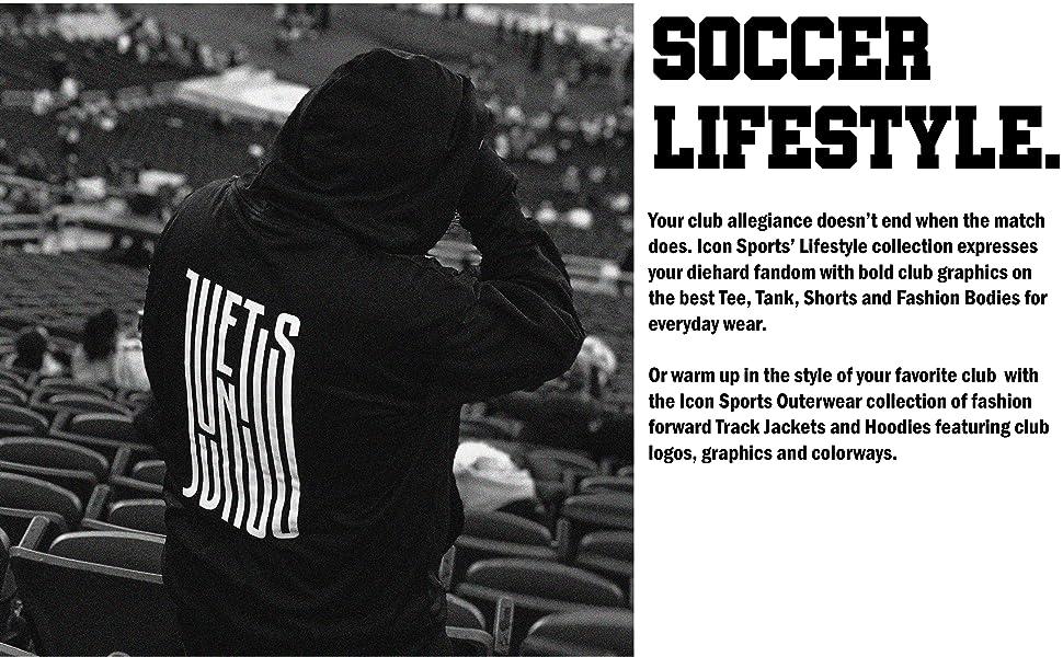 soccer hoodies, soccer track jackets, soccer shorts, soccer t-shirts