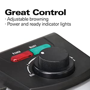 browning control waffle maker