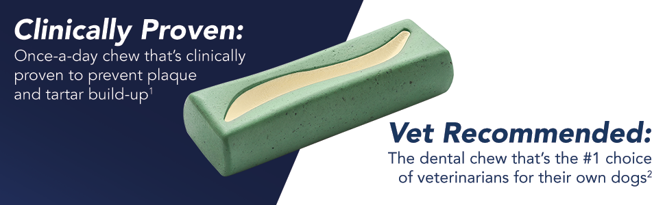 vet recommended, clinically proven, one a day dog chew, one a day dog treat